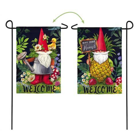 evergreen enterprises gnomes garden flag sfb