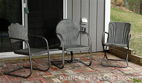 how to paint outdoor metal chairs rustic