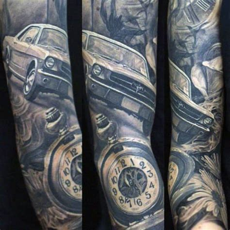 automotive tattoo sleeve car tattoos for men ideas and inspiration for guys
