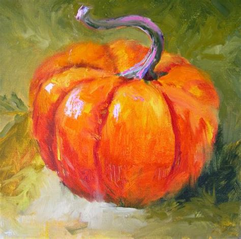 pumpkin paintings daily painters abstract gallery square pumpkin still
