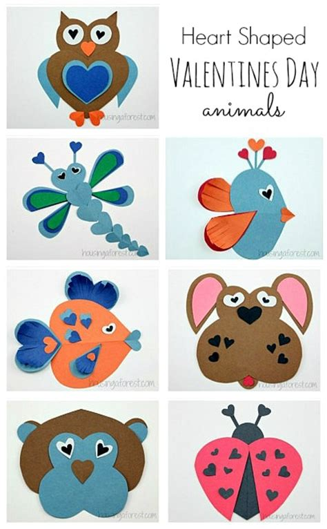 printable valentine animal crafts heart animals orange blossoms and dogwood