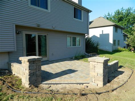Small Paver Patio Small Paver Patio Ideas Block Backyard Pavers With Iron Table And Small Gravel And Paver Patio