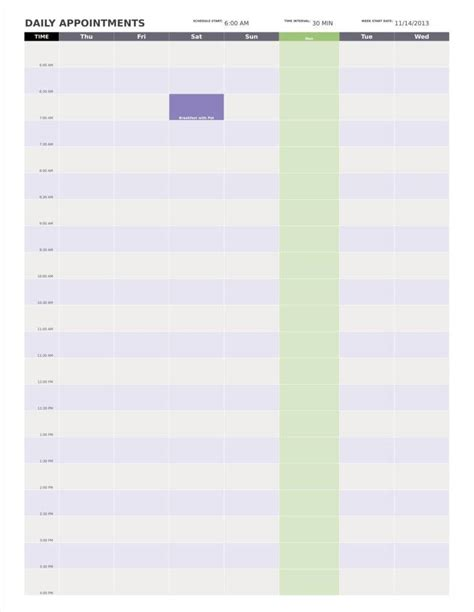 daily appointment calendar template 9 day calendar templates free sles exles formats