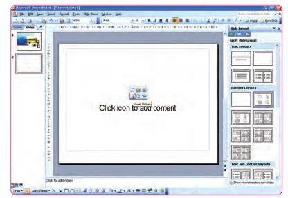 jenis layout presentasi cara menyisipkan gambar menggunakan menu insert dan