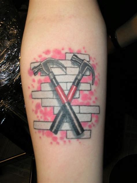 p nk tattoos wall pink floyd and the wall on