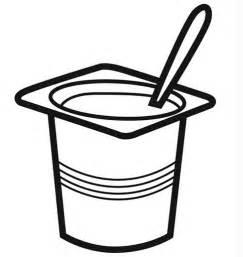 dibujos de yogures para colorear