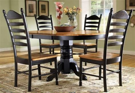 madison park 5 piece oval pedestal table with butterfly