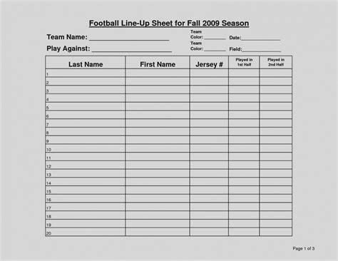 Football Roster Sheet Template football team sheet template free freemium