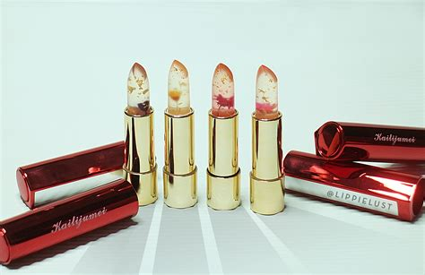 Lipstik Original Sarange kailijumei fancy jelly lipstick with real flower and gold