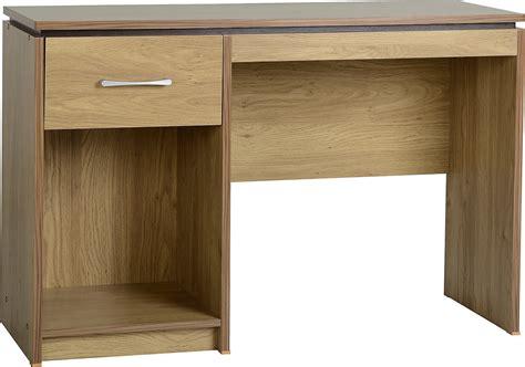 Seconique Charles Computer Desk Oak Veneer With Walnut Oak Veneer Computer Desk