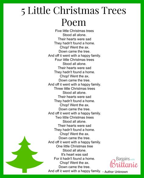 5 little christmas trees finger play gloves poem