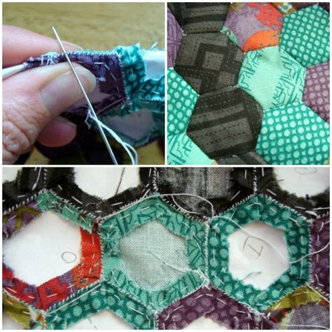 How To Patchwork Quilt - hexagon quilt tutorial