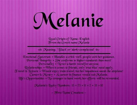Name Meanings Lookup Search Results Name Melanie Meaning The Best Hair Style