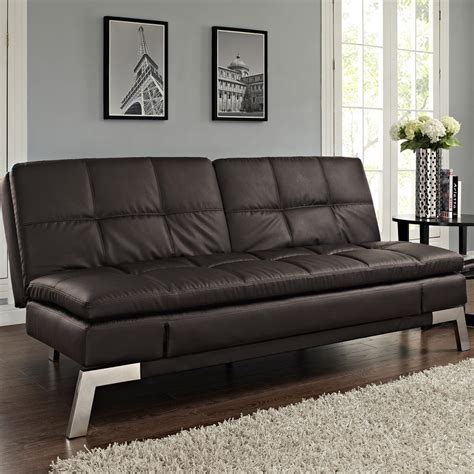 futon furnishings bonded leather futon costco