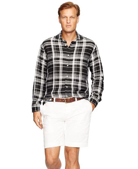 Polo Shirt Kaos Polo Rip Curl Big Size Xxxl Xxxxl lyst polo ralph big plaid linen shirt in