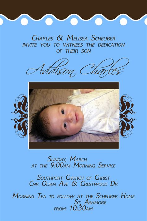 Dedication Invitations Pregnancy Baby Child Baby Blessing Invitation Templates