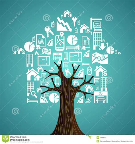 tree house real estate real estate icons tree house stock photography image 32688292