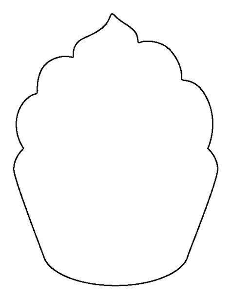 cupcake template to print cupcake pattern use the printable outline for crafts