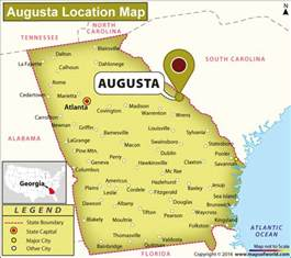 where is augusta on the map map of augusta map