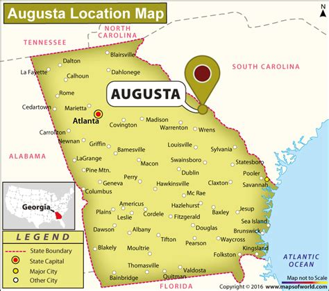 augusta usa map where is augusta located in usa