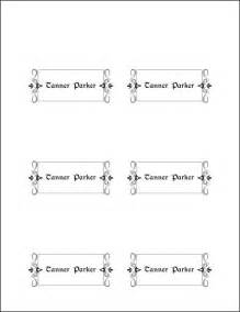 place card printing template 10 best images of place card template printable
