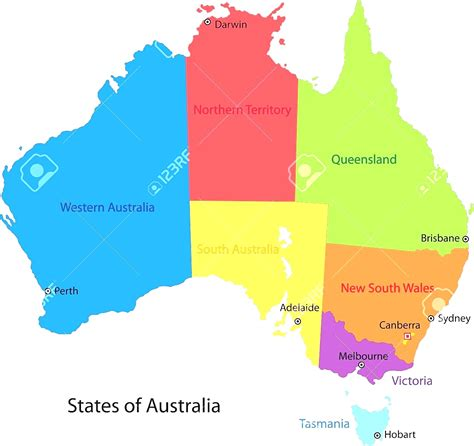 australia in map australia map states and capitals www pixshark
