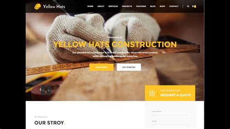 Download Free Construction Business Html Template About With Source Code Youtube Html Website Templates With Source Code
