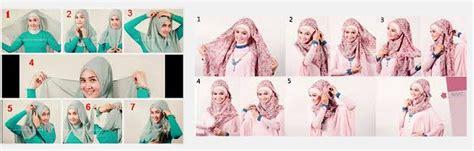 cara memakai jilbab elzatta tutorial cara memakai trend model jilbab elzatta segi
