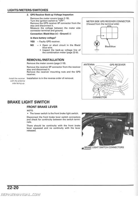 2003 2004 2005 honda trx650 rincon atv service manual