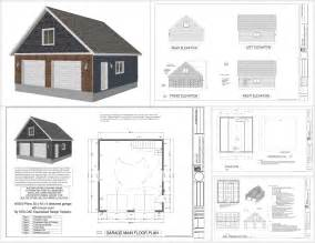 Garage Blueprints by G550 28 X 30 X 9 Garage Plans With Bonus Room Sds Plans