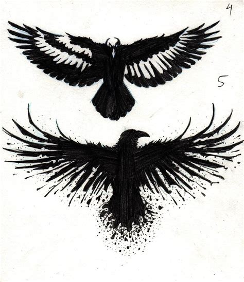 crow tattoo designs by marcahix on deviantart