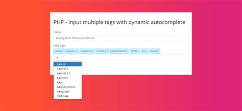 tutorial bootstrap tags input ajax category it solution stuff