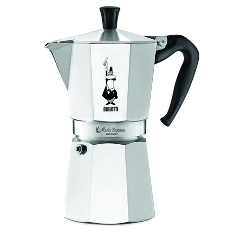 Espresso Coffee Maker 9 Cups Mokapot Coffe Maker Espresso Pot Kopi Bialetti 6801 Moka Express 9 Cup Stovetop Espresso Maker