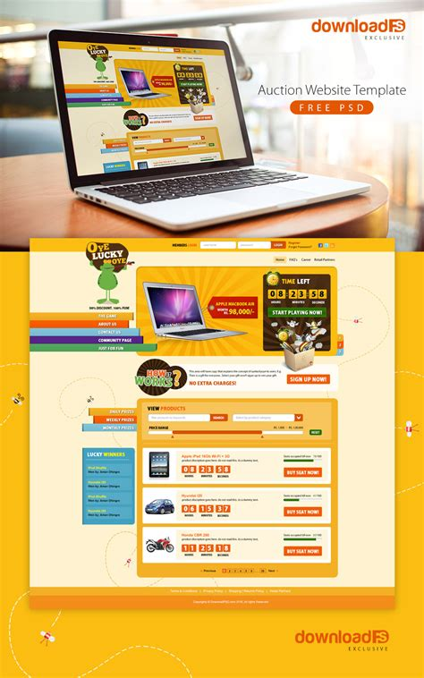 download free modern wordpress webshop psd download psd
