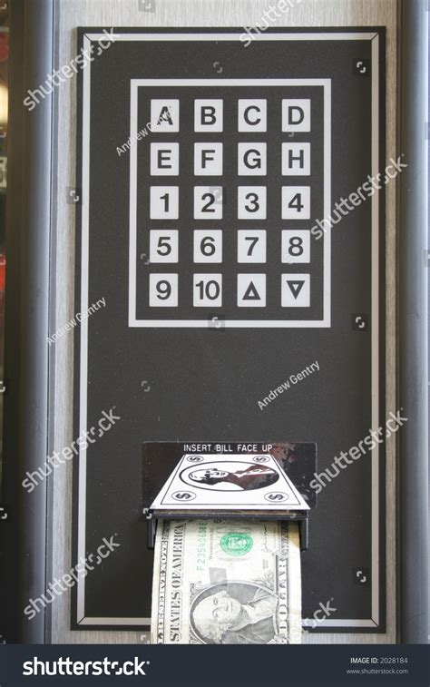 Sle Letter Vending Machine Keypad Vending Machine Dollar Rejection Keypad Stock Photo 2028184