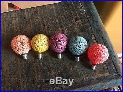 vinyage snowball lights vintage 23 ge lighted tree iced frosted snowball lights sugar lite