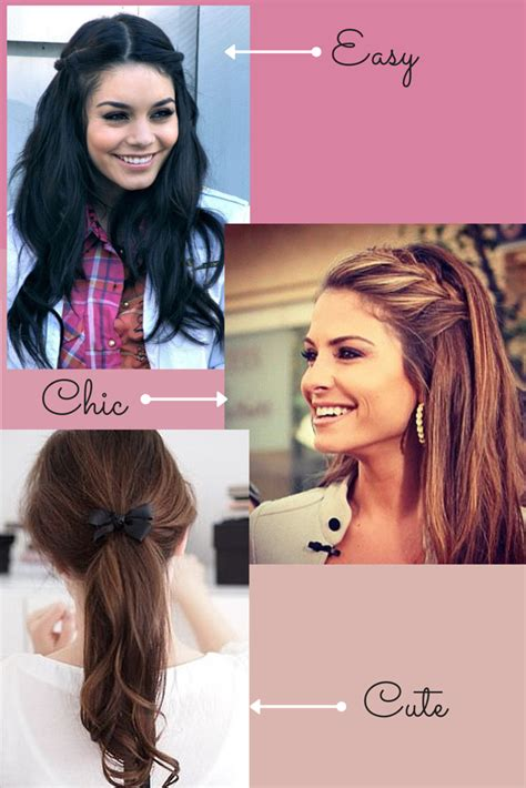 easy and quick back to hairstyles heatless
