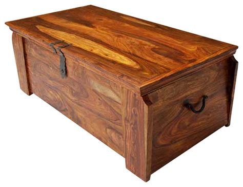 solid wood storage trunk decorative trunks by sierra