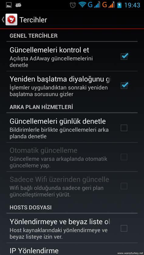adaway apk adaway v3 2 apk t 252 rk 231 e root gerektirir android reklam engelleme uygulaması
