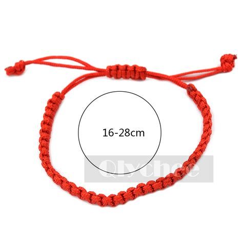 braided rope cord bracelet simple style couples lucky string ebay