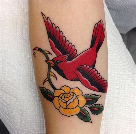 cardinal rose tattoo cardinal by danbythewood cardinals