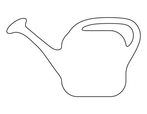 Watering Can Template Cards by Watering Can Pattern Use The Printable Outline For Crafts
