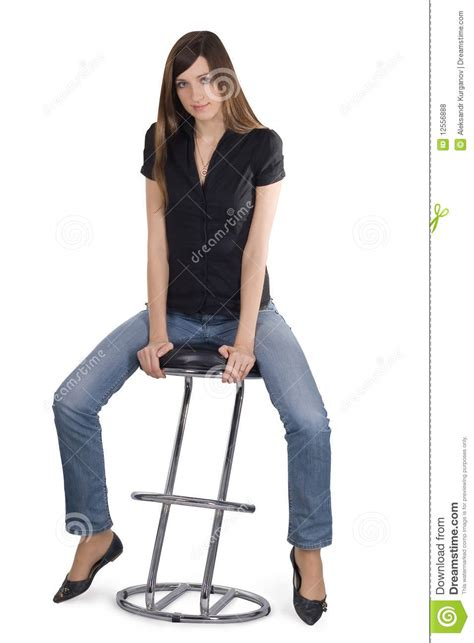 Sit On The Chair by Sitting On The Chair Royalty Free Stock Photos