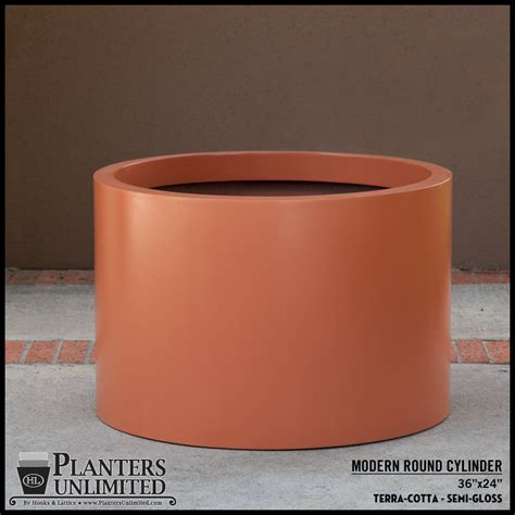 Cylindrical Planter by Modern Planters