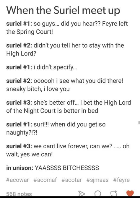 Literally, I need a whole series on The Suriel... ️