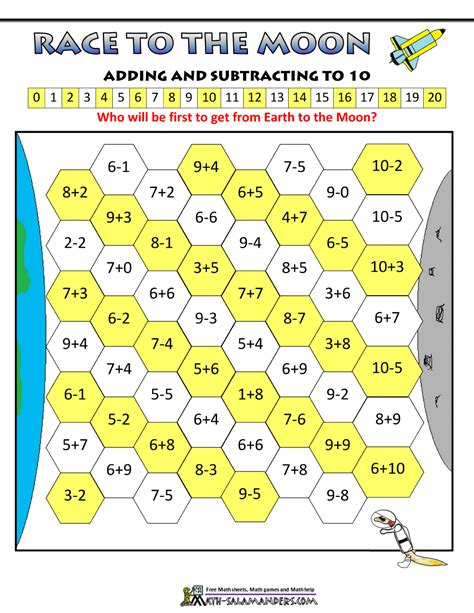 printable subtraction board games ks1 subtraction games for kids