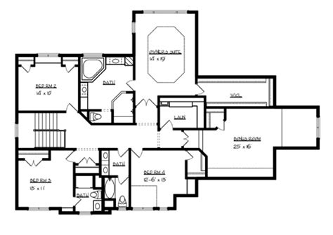 upper floor plan superior 7045 4 bedrooms and 3 baths the house designers