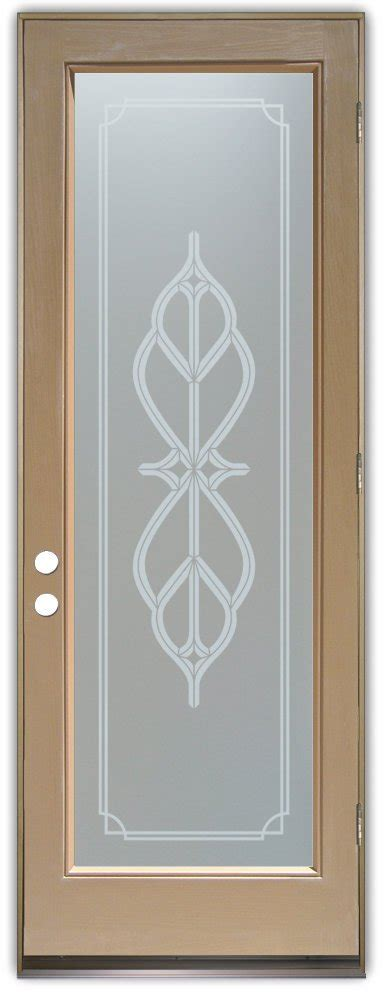 Interior Etched Glass Doors Faux Bevels Ii Style Interior Etched Glass Doors