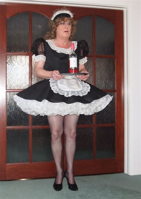 male maid waiting and ready to serve just as she should be women