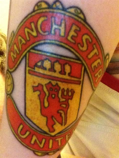manchester united tattoo manchester united by mrandersiversen on deviantart